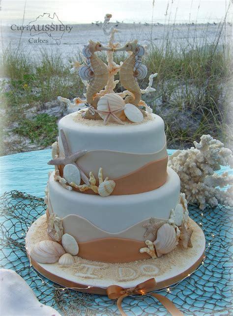 'sea Horse' Beach Theme Wedding Cake Cakecentral