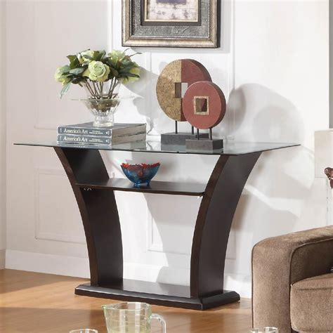 top console tables glass sofa table for a great living room decor ideas 5844
