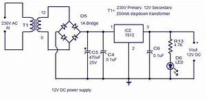 Simple 12v Dc Power Supply Circuit Diagram