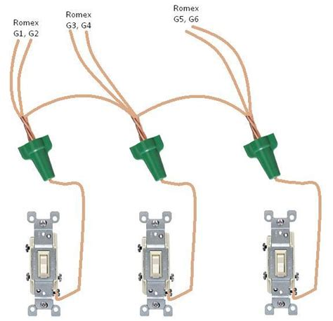 connecting 6 ground wires together then to 3 switches page 2
