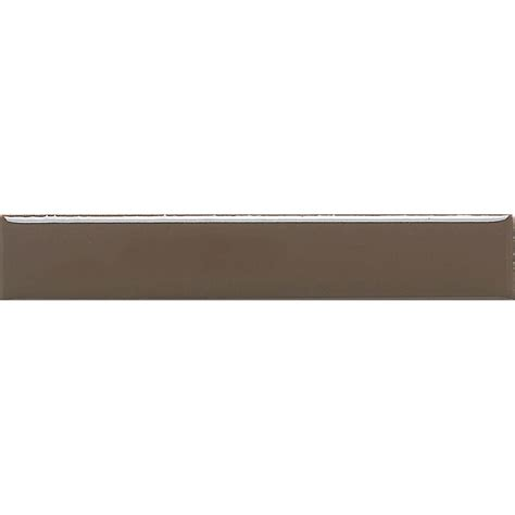 Home Depot Wall Tile Trim by Daltile Liners Artisan Brown 1 In X 6 In Ceramic Liner