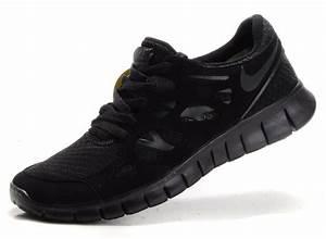 Nike Free Run 2 Womens Mens All Black Running Shoes