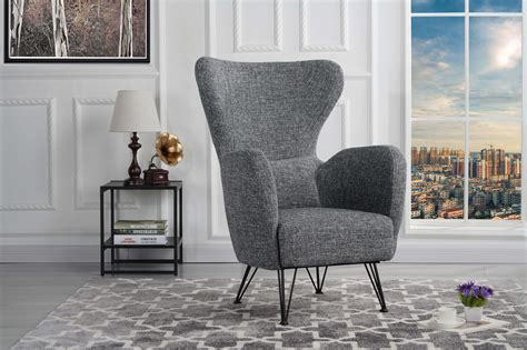 Modern Fabric Armchair by Mid Century Modern Fabric Accent Armchair With Shelter