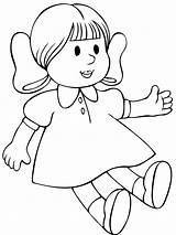 Doll Coloring Pages Print sketch template