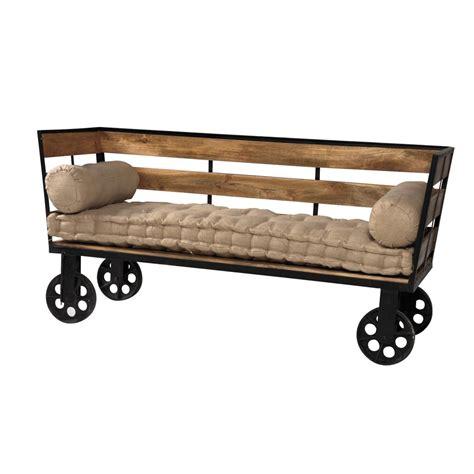 Divano In Stile - divano stile industriale sof 224 legno e ferro vendita prezzo