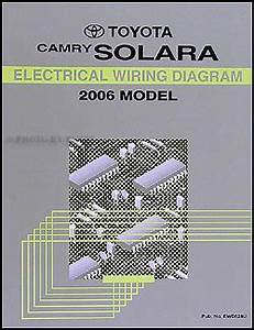 2006 Toyota Camry Solara Wiring Diagram Manual Original
