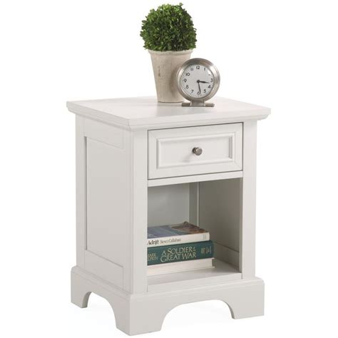Wide White Nightstand by Naples White Nightstand