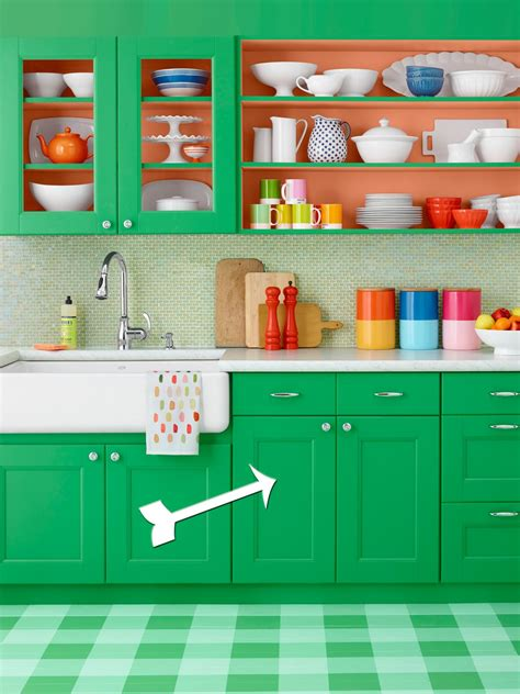 paint green kitchen cabinets hgtv