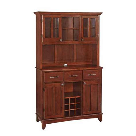 Cherry Buffet And Hutch - mix and match large cherry buffet server with two door