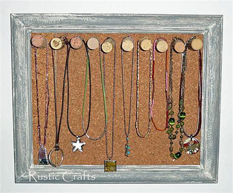 cork board wine corks diy jewelry holder craft idea rustic crafts chic decor