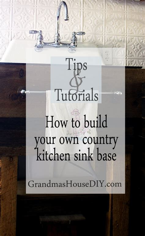how to build a kitchen sink how to build your own kitchen sink base do it yourself