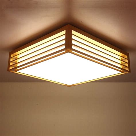 japanese style bedroom living room ceiling light wood led