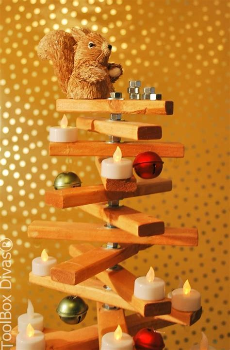 hometalk  nuts  bolts  making  wooden christmas tree