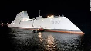 U.S. Navy's newest stealth destroyer USS Monsoor ...