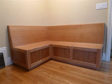 kitchen nook tables with storage wooden island breakfast build diy banquette bench curved