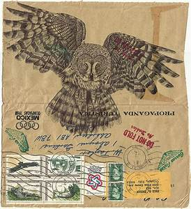Birds illustrated on vintage envelopes by mark powell for Birds illustrated on vintage envelopes by mark powell
