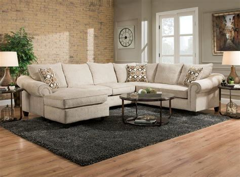 Caravan Sofas by American Furniture 2800 Sectional Sofa With Chaise On Left
