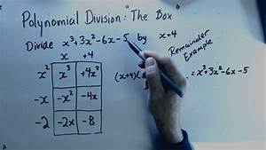 Polynomial Division With A Remainder  Box Method