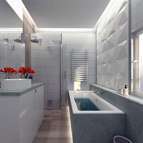 idee  arredare  bagno piccolo  vasca