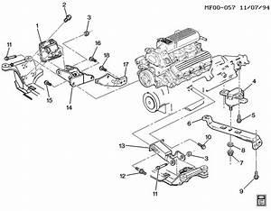 1997 Pontiac Firebird Engine  U0026 Transmission Mounting