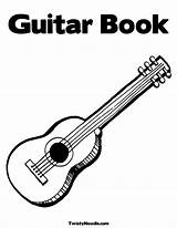 Coloring Guitar Pages Electric Bass Acoustic Colouring Getcoloringpages Double sketch template