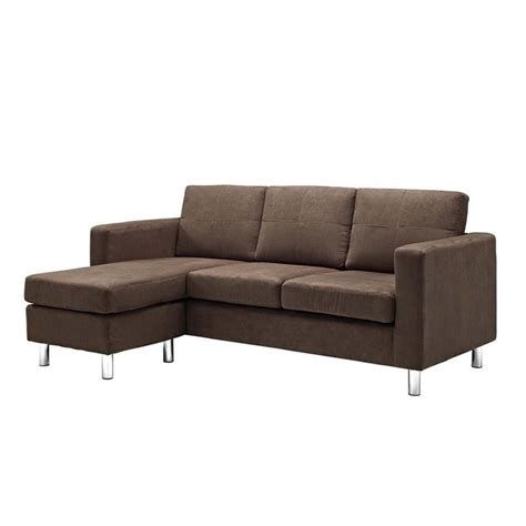 Small Brown Sectional Sofa by Dorel Living Small Spaces Adjustable Sectional Sofa In