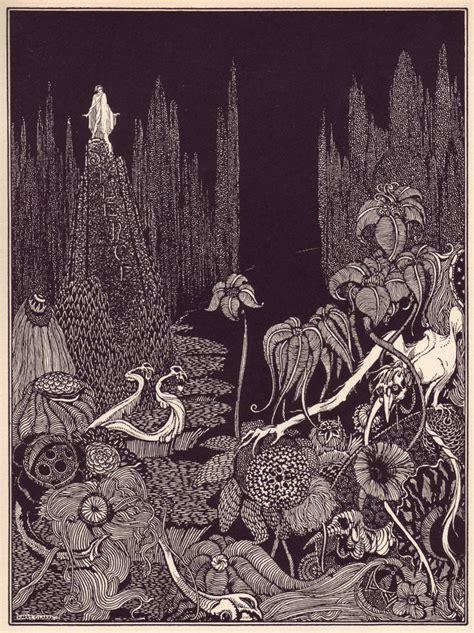harry clarkes spectacular illustrations  edgar allan