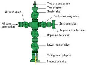 the difference between a wellhead christmas tree