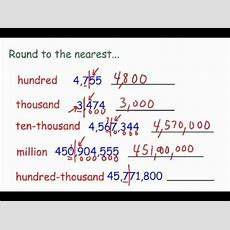 Rounding Whole Numbers Youtube
