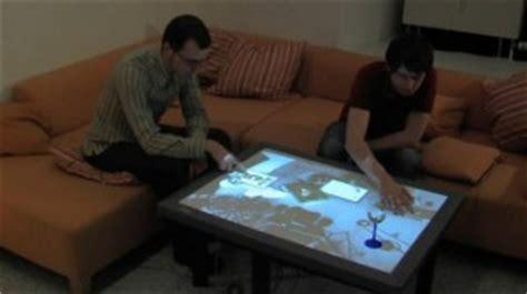le bureau tactile cristal transforme votre table basse en une télécommande