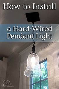 How to install a hard wired pendant light pretty handy girl
