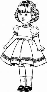 Dolls Coloring Pages Print sketch template