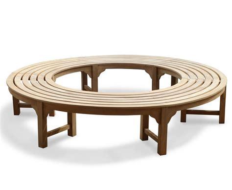 Saturn Teak Backless Round Tree Bench  Circular Tree Bench