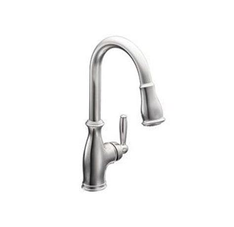 faux kitchen backsplash moen 7185 single handle kitchen faucet with pull out spray 7185