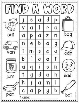 find  word cvc worksheets    images