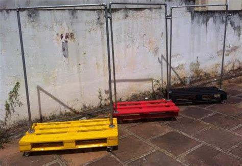 steel pipe garment    repurposed pallets
