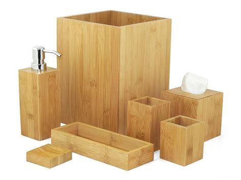 bambus bad accessoire set  teilig bambus holz badezimmer