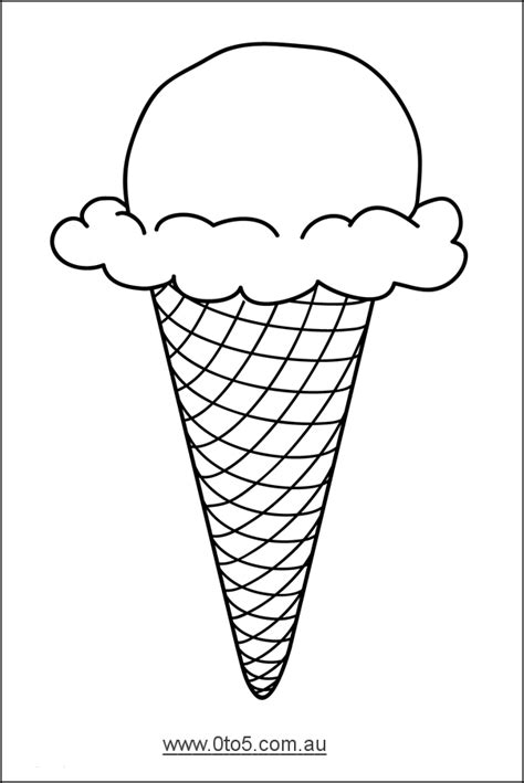 tocomau ice cream cone template suitable  young