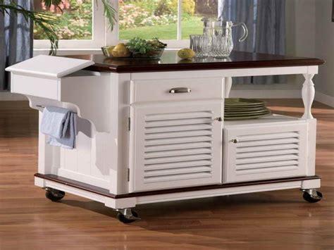 White Kitchen Island On Wheels   Kitchen Ideas