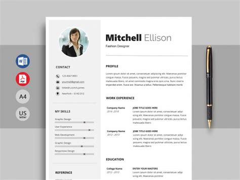 Cv Exle by Free Resume Cv Templates In Word Format 2019 Resumekraft