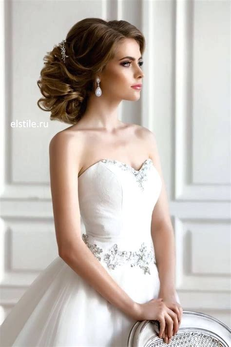 image result  hair styles  bride strapless gown