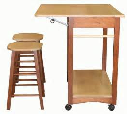 kitchen cart with stools underneath portable counter black