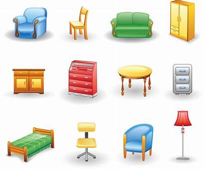 Furniture Icon Vector Clipart Rounded Clip Icons