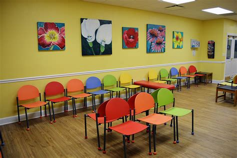 affordable  colorful waiting room chairs tables