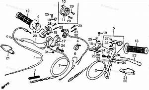 Honda Motorcycle 1983 Oem Parts Diagram For Control Levers