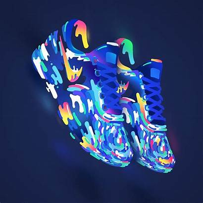 Neon Behance Nike Shoe Shoes Bram Vanhaeren