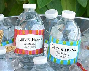 water proof personalized water bottle labels set of 5 With how to make custom water bottle labels