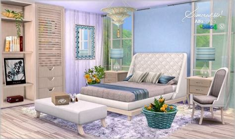 Primarily designed for a single person. Alfazema bedroom at SIMcredible! Designs 4 » Sims 4 Updates