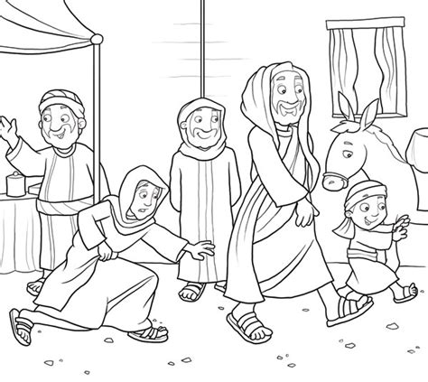 Free Coloring Pages Of Jesus Heals A Sick Boy