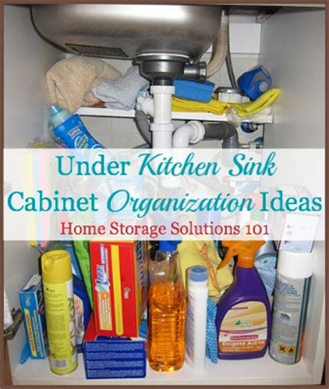 kitchen sink storage solutions kitchen sink cabinet organization ideas you can use 5969